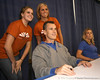 "photo by Tim Casey<br /> <br /> UF men's basketball head coach Billy Donovan poses for a photo during ""Shooting With the Stars,"" a basketball fan appreciation event, on Friday, October 24, 2008 at the Stephen C. O'Connell Center in Gainesville, Fla."