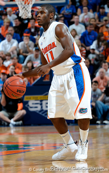 The University of Florida Gators compete against the University of South Carolina Gamecocks in Gainesville, Fla. on Saturday, January 23, 2010. / Gator Country photo by Casey Brooke Lawson