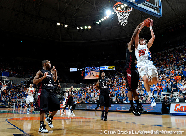 The University of Florida Gators defeat the University of South Carolina Gamecocks 58-56 in Gainesville, Fla. on Saturday, January 23, 2010. / Gator Country photo by Casey Brooke Lawson