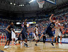 University of Florida forward Chandler Parsons blocks an Xavier player from grabbing a rebound during the Gators 64-76 loss to the Musketeers in Gainesville, Fla., on Saturday, February 13, 2010. / Gator Country photo by Casey Brooke Lawson