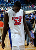 University of Florida forward Vernon Macklin walks from the court<br /> after the Gators 64-76 loss to the Musketeers in Gainesville, Fla., on Saturday, February 13, 2010. / Gator Country photo by Casey Brooke Lawson