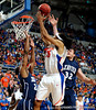 University of Florida forward Alex Tyus scores over an Xavier player during the Gators 64-76 loss to the Musketeers in Gainesville, Fla., on Saturday, February 13, 2010. / Gator Country photo by Casey Brooke Lawson