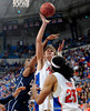 University of Florida forward Chandler Parsons scores over an Xavier player during the Gators 64-76 loss to the Musketeers in Gainesville, Fla., on Saturday, February 13, 2010. / Gator Country photo by Casey Brooke Lawson