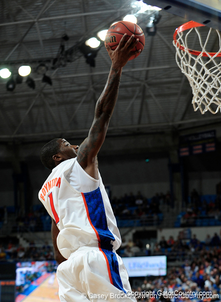 University of Florida guard Kenny Boynton scores during the Gators 64-76 loss to the Musketeers in Gainesville, Fla., on Saturday, February 13, 2010. / Gator Country photo by Casey Brooke Lawson