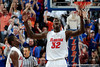 University of Florida forward Vernon Macklin celebrates after blocking a shot attempted by Xavier during the Gators 64-76 loss to the Musketeers in Gainesville, Fla., on Saturday, February 13, 2010. / Gator Country photo by Casey Brooke Lawson