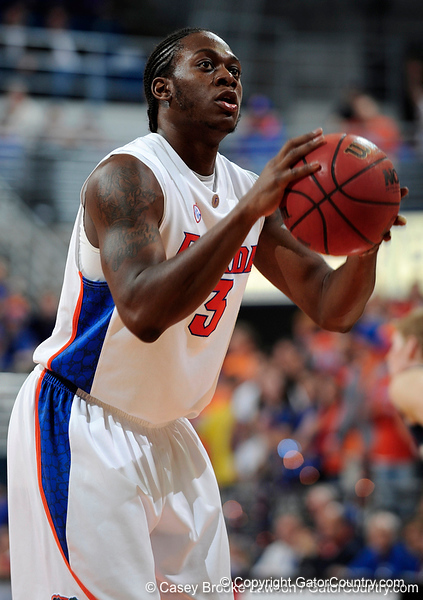 University of Florida guard Ray Shipman attempts a free-throw during the Gators 64-76 loss to the Musketeers in Gainesville, Fla., on Saturday, February 13, 2010. / Gator Country photo by Casey Brooke Lawson