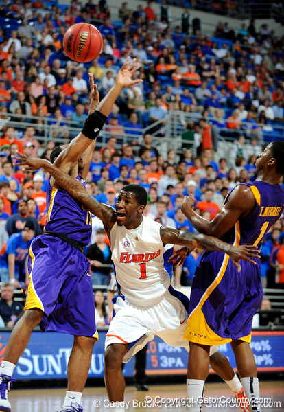 The University of Florida Gators defeat the LSU Tigers 72-58 in the Stephen C. O'Connell Center in Gainesville, Fla. on Saturday, January 16, 2009. / Gator Country photo by Casey Brooke Lawson