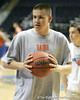 Billy Donovan, Jr. grabs a ball during the Gators' preparation for the SEC Men's Basketball Tournament on Wednesday, March 10, 2010 at Bridgestone Arena in Nashville, Tenn. / Gator Country photo by Tim Casey