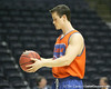 Florida junior guard Hudson Fricke works out during the Gators' preparation for the SEC Men's Basketball Tournament on Wednesday, March 10, 2010 at Bridgestone Arena in Nashville, Tenn. / Gator Country photo by Tim Casey
