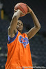 Florida sophomore guard/forward Ray Shipman shoots for three during the Gators' preparation for the SEC Men's Basketball Tournament on Wednesday, March 10, 2010 at Bridgestone Arena in Nashville, Tenn. / Gator Country photo by Tim Casey