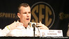 Florida head coach Billy Donovan talks to reporters during the Gators' preparation for the SEC Men's Basketball Tournament on Wednesday, March 10, 2010 at Bridgestone Arena in Nashville, Tenn. / Gator Country photo by Tim Casey