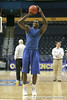 Florida redshirt junior forward/center Vernon Macklin shoots for three during the Gators' preparation for the SEC Men's Basketball Tournament on Wednesday, March 10, 2010 at Bridgestone Arena in Nashville, Tenn. / Gator Country photo by Tim Casey