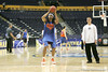 Florida junior forward Alex Tyus shoots for three during the Gators' preparation for the SEC Men's Basketball Tournament on Wednesday, March 10, 2010 at Bridgestone Arena in Nashville, Tenn. / Gator Country photo by Tim Casey