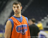 Florida senior forward Dan Werner works out during the Gators' preparation for the SEC Men's Basketball Tournament on Wednesday, March 10, 2010 at Bridgestone Arena in Nashville, Tenn. / Gator Country photo by Tim Casey