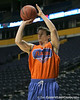 Florida junior guard Hudson Fricke shoots during the Gators' preparation for the SEC Men's Basketball Tournament on Wednesday, March 10, 2010 at Bridgestone Arena in Nashville, Tenn. / Gator Country photo by Tim Casey