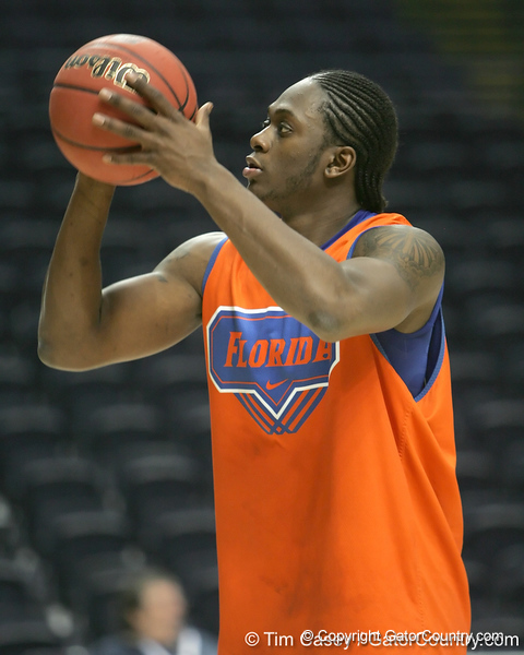Florida sophomore guard/forward Ray Shipman shoots during the Gators' preparation for the SEC Men's Basketball Tournament on Wednesday, March 10, 2010 at Bridgestone Arena in Nashville, Tenn. / Gator Country photo by Tim Casey