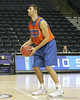 Florida senior forward Dan Werner shoots a free throw during the Gators' preparation for the SEC Men's Basketball Tournament on Wednesday, March 10, 2010 at Bridgestone Arena in Nashville, Tenn. / Gator Country photo by Tim Casey
