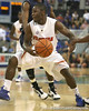 Florida sophomore guard Erving Walker moves to the basket during the Gators' 69-49 win against Georgia Southern on Wednesday, November 18, 2009 at the Stephen C. O'Connell Center in Gainesville, Fla. / photo by Tim Casey