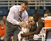 Florida head coach Billy Donovan talks to redshirt junior forward/center Vernon Macklin during the Gators' 69-49 win against Georgia Southern on Wednesday, November 18, 2009 at the Stephen C. O'Connell Center in Gainesville, Fla. / photo by Tim Casey