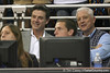 Rick Pitino watches with Bill Donovan during the Gators' 69-49 win against Georgia Southern on Wednesday, November 18, 2009 at the Stephen C. O'Connell Center in Gainesville, Fla. / photo by Tim Casey