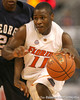 Florida sophomore guard Erving Walker drives to the basket during the Gators' 69-49 win against Georgia Southern on Wednesday, November 18, 2009 at the Stephen C. O'Connell Center in Gainesville, Fla. / photo by Tim Casey