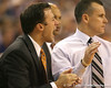 Florida assistant coach Richard Pitino shouts instructions during the Gators' 69-49 win against Georgia Southern on Wednesday, November 18, 2009 at the Stephen C. O'Connell Center in Gainesville, Fla. / photo by Tim Casey