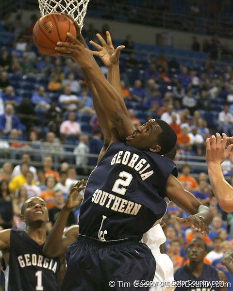 during the Gators' 69-49 win against Georgia Southern on Wednesday, November 18, 2009 at the Stephen C. O'Connell Center in Gainesville, Fla. / photo by Tim Casey