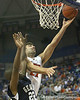 Florida senior forward Dan Werner lays in two points during the Gators' 69-49 win against Georgia Southern on Wednesday, November 18, 2009 at the Stephen C. O'Connell Center in Gainesville, Fla. / photo by Tim Casey