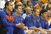 Florida redshirt sophomore forward Adam Allen watches from the bench during the Gators' 69-49 win against Georgia Southern on Wednesday, November 18, 2009 at the Stephen C. O'Connell Center in Gainesville, Fla. / photo by Tim Casey