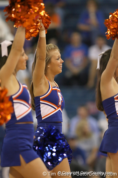 Florida cheerleaders perform during the Gators' 69-49 win against Georgia Southern on Wednesday, November 18, 2009 at the Stephen C. O'Connell Center in Gainesville, Fla. / photo by Tim Casey