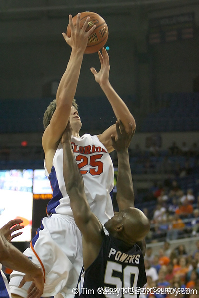 Florida junior forward Chandler Parsons shoots a jump shot during the Gators' 69-49 win against Georgia Southern on Wednesday, November 18, 2009 at the Stephen C. O'Connell Center in Gainesville, Fla. / photo by Tim Casey