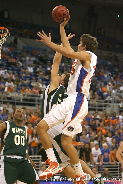 Florida junior forward Chandler Parsons shoots for two during the Gators' 104-53 win against the Webber Warriors on Monday, November 9, 2009 at the Stephen C. O'Connell Center in Gainesville, Fla. / Gator Country photo by Tim Casey