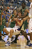 Florida junior forward Chandler Parsons forces a jump ball during the Gators' 95-46 exhibition game win against the St. Leo Lions on Monday, November 2, 2009 at the Stephen C. O'Connell Center in Gainesville, Fla. / Gator Country photo by Tim Casey