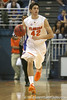 Florida freshman guard Rod Tishman brings the ball upcourt during the Gators' 95-46 exhibition game win against the St. Leo Lions on Monday, November 2, 2009 at the Stephen C. O'Connell Center in Gainesville, Fla. / Gator Country photo by Tim Casey