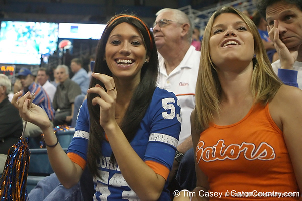 Florida fans cheer during the Gators' 95-46 exhibition game win against the St. Leo Lions on Monday, November 2, 2009 at the Stephen C. O'Connell Center in Gainesville, Fla. / Gator Country photo by Tim Casey