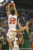 Florida junior forward Chandler Parsons slams in an offensive rebound during the Gators' 95-46 exhibition game win against the St. Leo Lions on Monday, November 2, 2009 at the Stephen C. O'Connell Center in Gainesville, Fla. / Gator Country photo by Tim Casey
