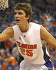 Florida junior forward Chandler Parsons guards the passer during the Gators' 95-46 exhibition game win against the St. Leo Lions on Monday, November 2, 2009 at the Stephen C. O'Connell Center in Gainesville, Fla. / Gator Country photo by Tim Casey