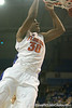 Florida sophomore forward/center Kenny Kadji slams in two points during the Gators' 95-46 exhibition game win against the St. Leo Lions on Monday, November 2, 2009 at the Stephen C. O'Connell Center in Gainesville, Fla. / Gator Country photo by Tim Casey