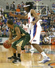 Florida junior forward Alex Tyus defends the ball during the Gators' 95-46 exhibition game win against the St. Leo Lions on Monday, November 2, 2009 at the Stephen C. O'Connell Center in Gainesville, Fla. / Gator Country photo by Tim Casey