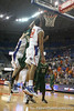 Florida senior forward Dan Werner tips in an offensive rebound during the Gators' 95-46 exhibition game win against the St. Leo Lions on Monday, November 2, 2009 at the Stephen C. O'Connell Center in Gainesville, Fla. / Gator Country photo by Tim Casey