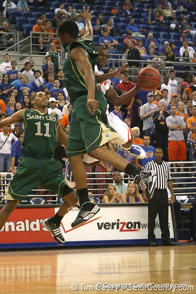 Florida sophomore guard Erving Walker makes a move during the Gators' 95-46 exhibition game win against the St. Leo Lions on Monday, November 2, 2009 at the Stephen C. O'Connell Center in Gainesville, Fla. / Gator Country photo by Tim Casey