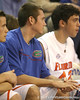 Florida sophomore guard Kyle McClanahan watches during the Gators' 95-46 exhibition game win against the St. Leo Lions on Monday, November 2, 2009 at the Stephen C. O'Connell Center in Gainesville, Fla. / Gator Country photo by Tim Casey