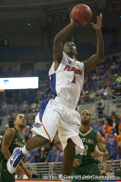 Florida freshman guard Kenny Boynton shoots a layup during the Gators' 95-46 exhibition game win against St. Leo on Monday, November 2, 2009 at the Stephen C. O'Connell Center in Gainesville, Fla. / Gator Country photo by Tim Casey