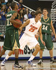 Florida junior forward Chandler Parsons defends the ball during the Gators' 95-46 exhibition game win against the St. Leo Lions on Monday, November 2, 2009 at the Stephen C. O'Connell Center in Gainesville, Fla. / Gator Country photo by Tim Casey