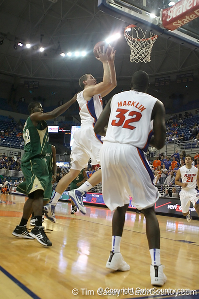 Florida freshman forward Erik Murphy shoots for two during the Gators' 95-46 exhibition game win against the St. Leo Lions on Monday, November 2, 2009 at the Stephen C. O'Connell Center in Gainesville, Fla. / Gator Country photo by Tim Casey