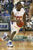 Florida sophomore guard Erving Walker drives to the paint during the Gators' 95-46 exhibition game win against the St. Leo Lions on Monday, November 2, 2009 at the Stephen C. O'Connell Center in Gainesville, Fla. / Gator Country photo by Tim Casey