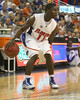 Florida sophomore guard Erving Walker controls the ball during the Gators' 95-46 exhibition game win against the St. Leo Lions on Monday, November 2, 2009 at the Stephen C. O'Connell Center in Gainesville, Fla. / Gator Country photo by Tim Casey