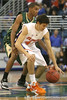 Florida freshman guard Rod Tishman controls the ball during the Gators' 95-46 exhibition game win against the St. Leo Lions on Monday, November 2, 2009 at the Stephen C. O'Connell Center in Gainesville, Fla. / Gator Country photo by Tim Casey