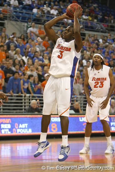 Florida sophomore guard/forward Ray Shipman shoots a jump shot during the Gators' 95-46 exhibition game win against the St. Leo Lions on Monday, November 2, 2009 at the Stephen C. O'Connell Center in Gainesville, Fla. / Gator Country photo by Tim Casey