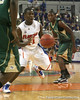 Florida sophomore guard Erving Walker drives to the goal during the Gators' 95-46 exhibition game win against the St. Leo Lions on Monday, November 2, 2009 at the Stephen C. O'Connell Center in Gainesville, Fla. / Gator Country photo by Tim Casey